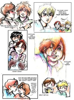 Hetalia British Isle Sketch Collection by GalacticDustBunnies