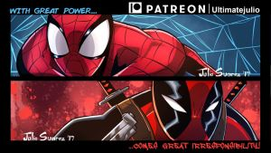Spiderman/Deadpool: With great power... by ultimatejulio