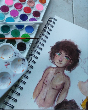 Alex Watercolor Testing by Arioodle