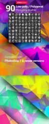90 Polygonal / Geometrical Photoshop Brushes by env1ro