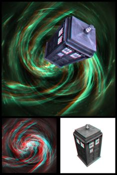 Anaglyph TARDIS 2 by chemicalkidd