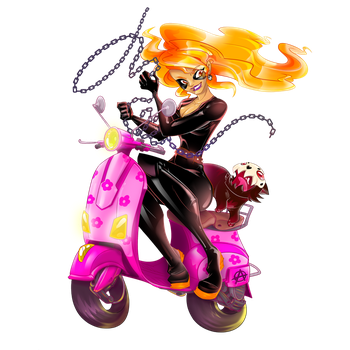 Pretty in Pink Ghost Rider by Feralita