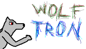WolfTron in Line letters by WolfTron