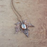 Maple leaf necklace by WhiteSquaw