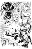 Danger Girl inks by madman1
