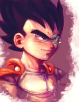 Kid Vegeta-scouter by Mark-Clark-II
