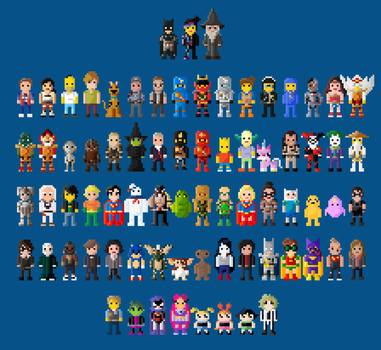 Lego Dimensions Characters 8 Bit by LustriousCharming