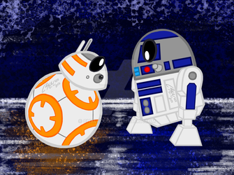 BB-8 and R2-D2 by Chalecus