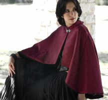 Burgundy Vines Mini Cloak by CrystalKittyCat