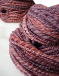 English rose handspun by Snowberrylime