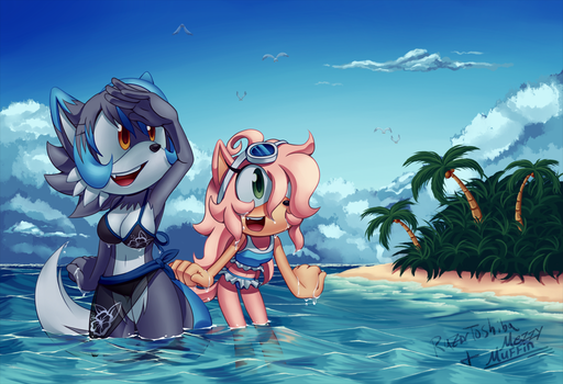 Beach Time(collab) by RazorToshiba