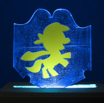 Cutie Mark Crusaders Logo Acrylic LED Picture by steeph-k