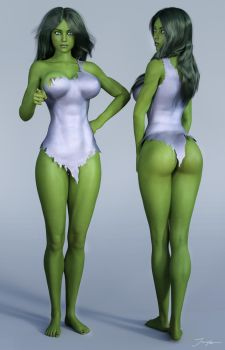 Character Reference She Hulk v4 by tiangtam