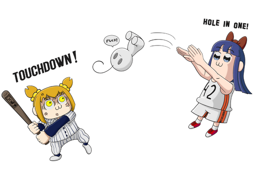 Pipimi and Popuko playing with Cry by Hiswa