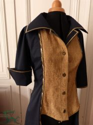 Corsair jacket with cuff rolled up by Herilome