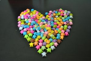 Paper-star maded Heart by ahmetertem