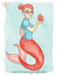 Apple Mermaid - MerMonday September 3rd 2018 by DreamPigment