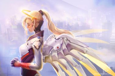 [Overwatch] Praying for Mercy by NaNinna