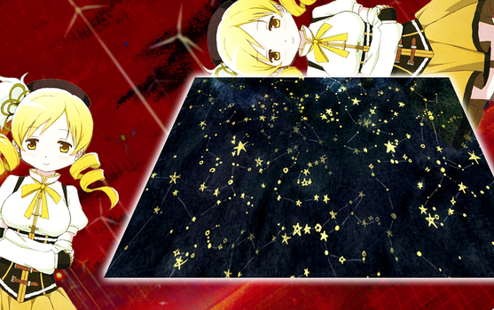 Tomoe Mami Duel Background by PhoebeJones
