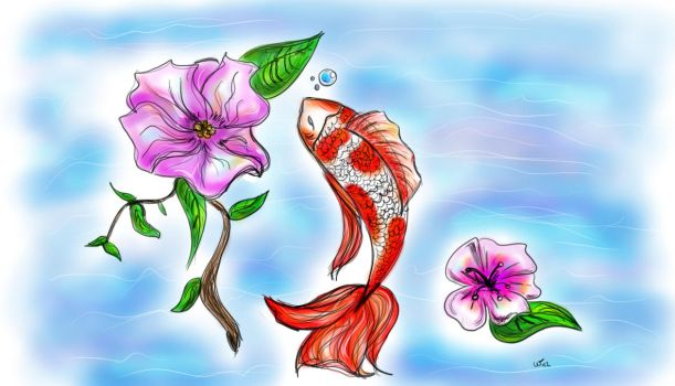Koi speedpaint by wampir00