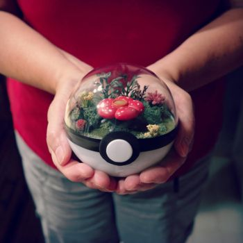 Poke Ball Terrarium - Vileplume - Medium by TheVintageRealm