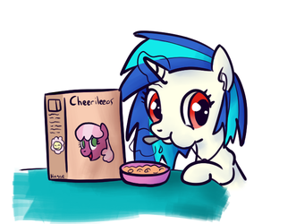 Scratch eating cereal by NasseSeta