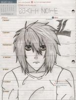 L Lawliet - Uncolored by DeathNoteJenny