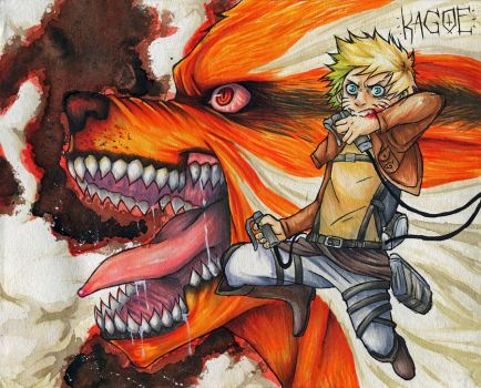 : Attack On Konoha : by Kagoe