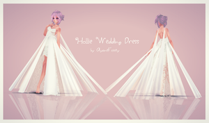 [MMD] Hollie Wedding Dress (WIP) by AyaneFoxey