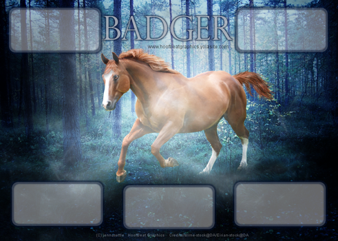 Badger Layout by HoofBeat-Graphics
