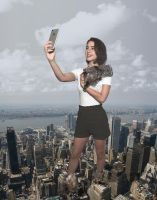 Adelaide Kane - Taking selfies of her destruction by Natkatsz