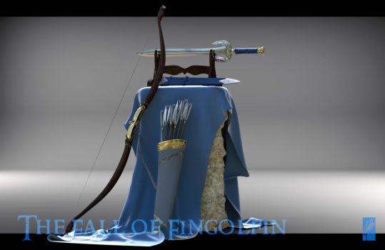 Fingon's Weapons - Bow and Sword by Breogan