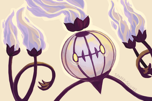 Chandelure by spaded-square