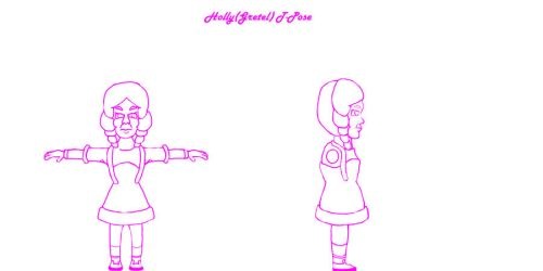 Holly T-Pose by xREM3DY