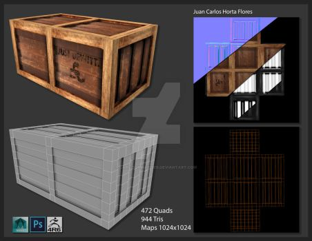Box modeling and texturing 01 by Carlitoxmaister