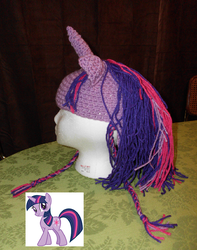 Twilight Sparkle Hat by sailor-kitty19