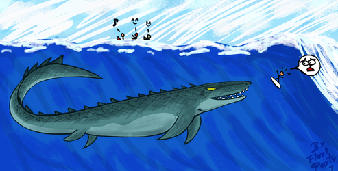 Jurassic World 2: Mosasaurus Surfer Nom Noms by fiori-party