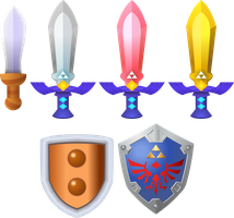 A Link Between Worlds Swords 'n' Shields by Doctor-G
