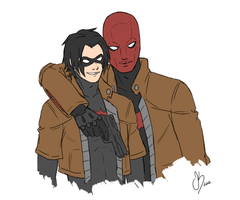 Red Hood/Hoodlum - Smile by Xinjay