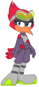 Redd the Cardinal by JeepersMeepers