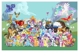 16k Pony Con Poster wo logos by PonyComicConPoster