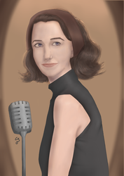 Rachel Brosnahan as Mrs. Miriam Maisel by Chibenobi