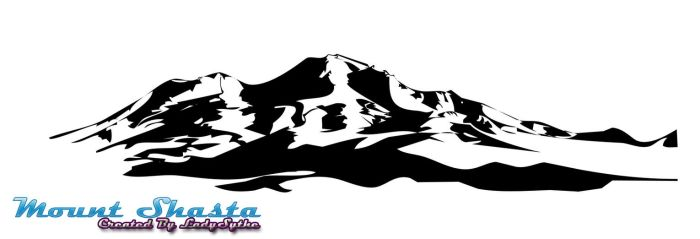 Mount Shasta Photoshop Shape by LadySythe