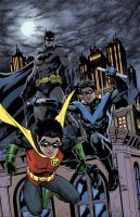 Batman, Robin, Nightwing colors by craigcermak