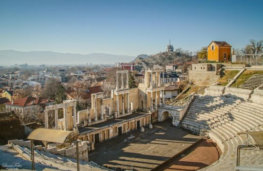 roman theatre of Plovdiv. 2 by LunaFeles