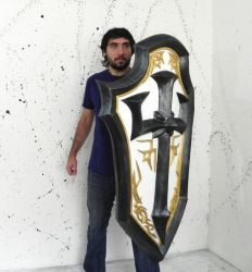 Johanna - Heroes of the Storm shield by TheGoblinFactory
