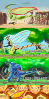 Flygon Breeds by SpottedAlienMonster