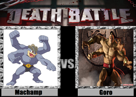 Death Battle idea Machamp vs Goro
