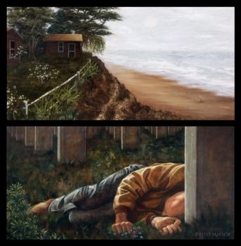 Diptych: Loss and Life by Paintsmudger