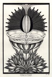 Ace Of Cups Tarot Original by InaAuderieth